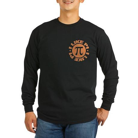 I Like Pi Long Sleeve Dark T-Shirt