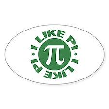 I Like Pi Oval Decal