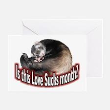 Love Sucks Month Greeting Cards (Pk of 10)
