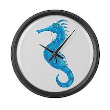 Biomechanical Seahorse Large Wall Clock