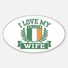 I Love My Irish Wife Decal