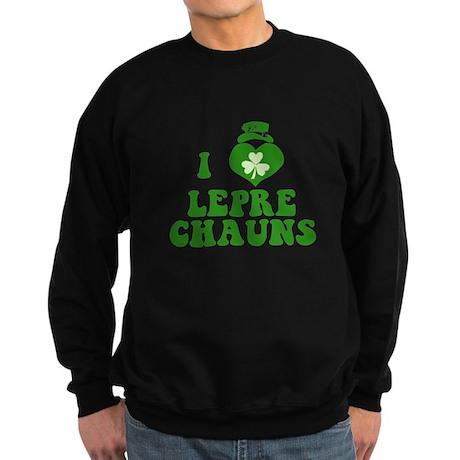 I Love Leprechauns Sweatshirt (dark)