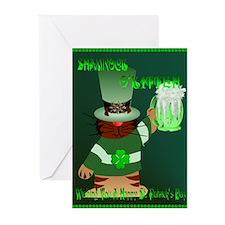 Shamrock O'Kitteh Greeting Cards (Pk of 20)