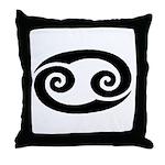Cancer Sign Gift Gear Throw Pillow