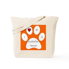 Orange I Love My Australian Terrier Tote Bag