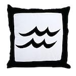 Aquarius Sign Gift Gear Throw Pillow