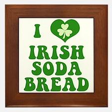 I Love Irish Soda Bread Framed Tile