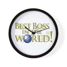 Best Boss in the World Wall Clock