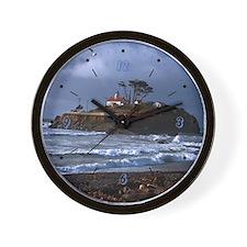 Battery Point Lighthouse & Gull Wall Clock