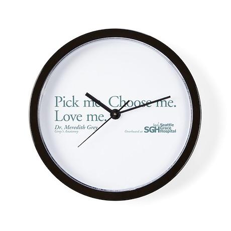 Pick me. Choose me. Love me. Wall Clock by wheetv10