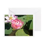 Lotus 2 Greeting Cards (Pk of 10)