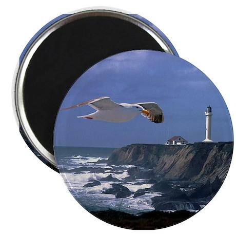 "Lighthouse & Seagull 2.25"" Magnet (10 pack)"