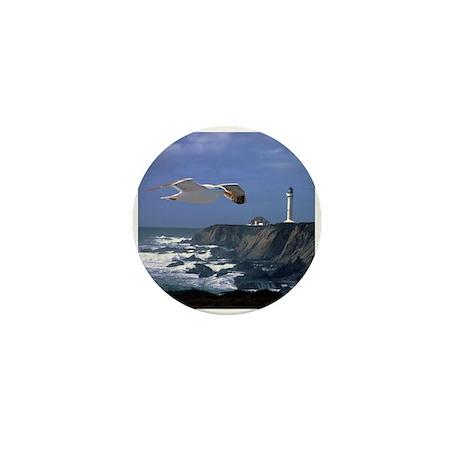 Lighthouse & Seagull Mini Button