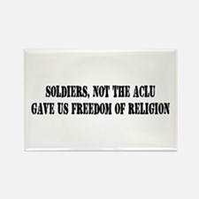 Soldiers Give Freedom Rectangle Magnet