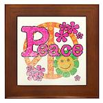 Vintage Peace Framed Tile