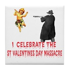 Anti-Valentine Firing Squad Tile Coaster