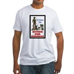 Defend Our Borders Fitted T-Shirt