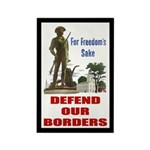 Defend Our Borders Rectangle Magnet (100 pack)