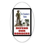 Defend Our Borders Oval Sticker