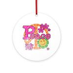 Vintage Peace Ornament (Round)