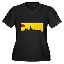 Funny Isabella Women's Plus Size V-Neck Dark T-Shirt