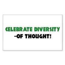 Celebrate Diversity Of THOUGHT Sticker (Rectangula