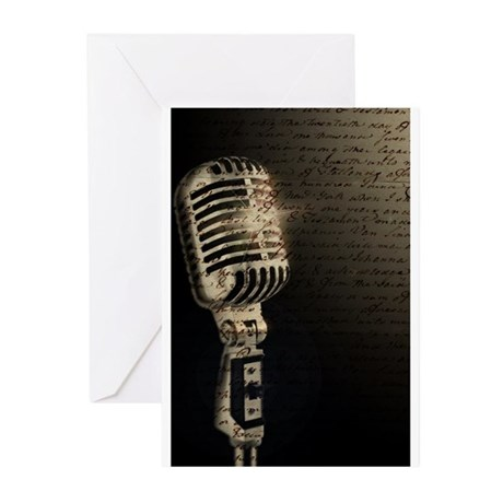 Microphone Notes Greeting Cards (Pk of 10)