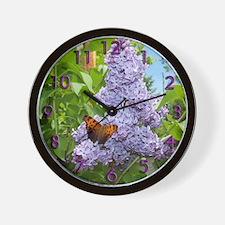 Blue Lilac Wall Clock