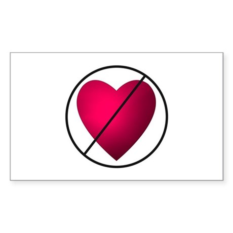 No Valentine's Day Rectangle Sticker