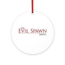 Dr. Evil Spawn Round Ornament