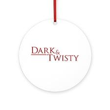 Dark & Twisty Round Ornament