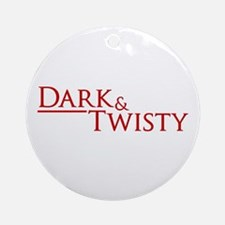 Dark & Twisty Round Ornament