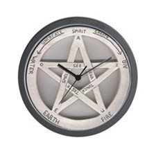 wiccan time Wall Clock