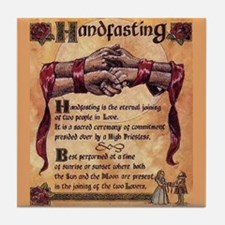 hand fasting Tile Coaster
