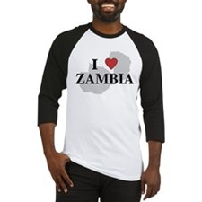 I Love Zambia Baseball Jersey