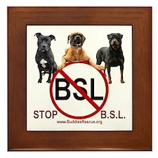 STOP B.S.L. - Framed Tile