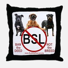STOP B.S.L. - Throw Pillow