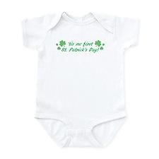'tis me first St. Patrick's D Infant Bodysuit
