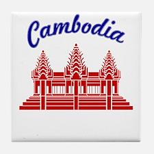 Cambodia Colors Tile Coaster
