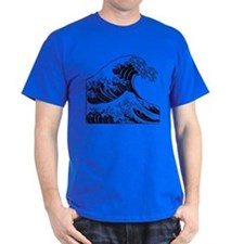 The Great Wave (Black) T-Shirt