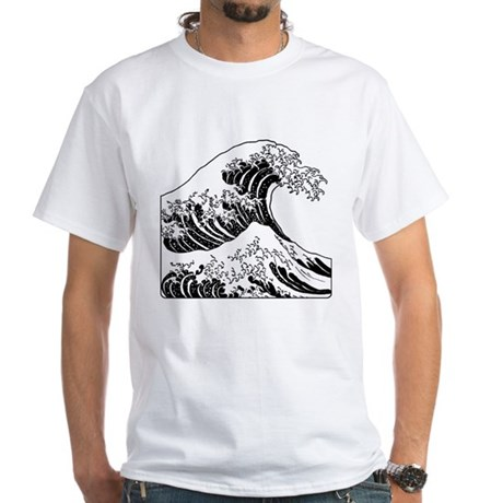 The Great Wave Black Shirt By Superatomik