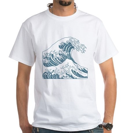 Great wave blue 10x10 white t shirt the great wave blue The great t shirt