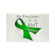 Twin Sister BMT Survivor Rectangle Magnet