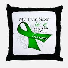 Twin Sister BMT Survivor Throw Pillow