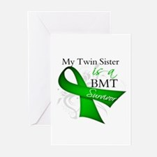 Twin Sister BMT Survivor Greeting Cards (Pk of 10)