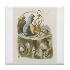 Alice and the Caterpillar Tile Coaster