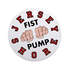 Jersey Shore Fist Pump Ornament (Round)