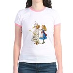 ALICE & THE WHITE QUEEN Jr. Ringer T-Shirt