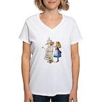 ALICE & THE WHITE QUEEN Women's V-Neck T-Shirt