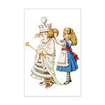 ALICE & THE WHITE QUEEN Mini Poster Print